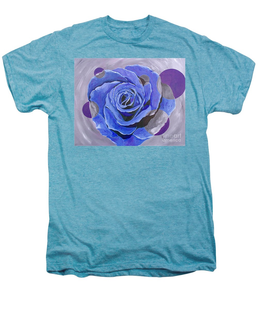 Acrylic Men's Premium T-Shirt featuring the painting Blue Ice by Herschel Fall