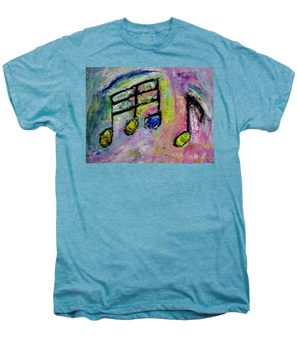 Impressionist Men's Premium T-Shirt featuring the painting Blue Note by Anita Burgermeister