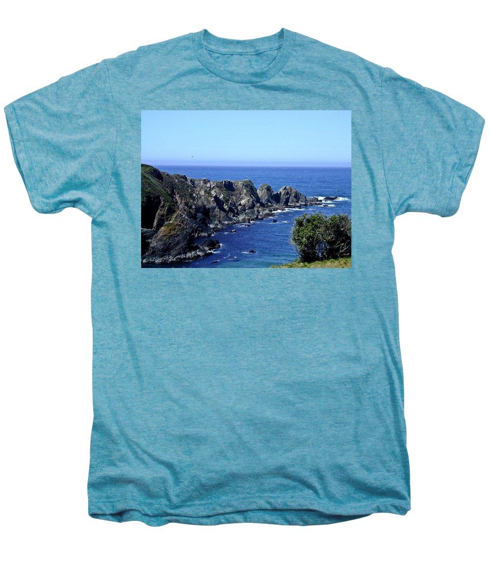 Blue Men's Premium T-Shirt featuring the photograph Blue Pacific by Douglas Barnett
