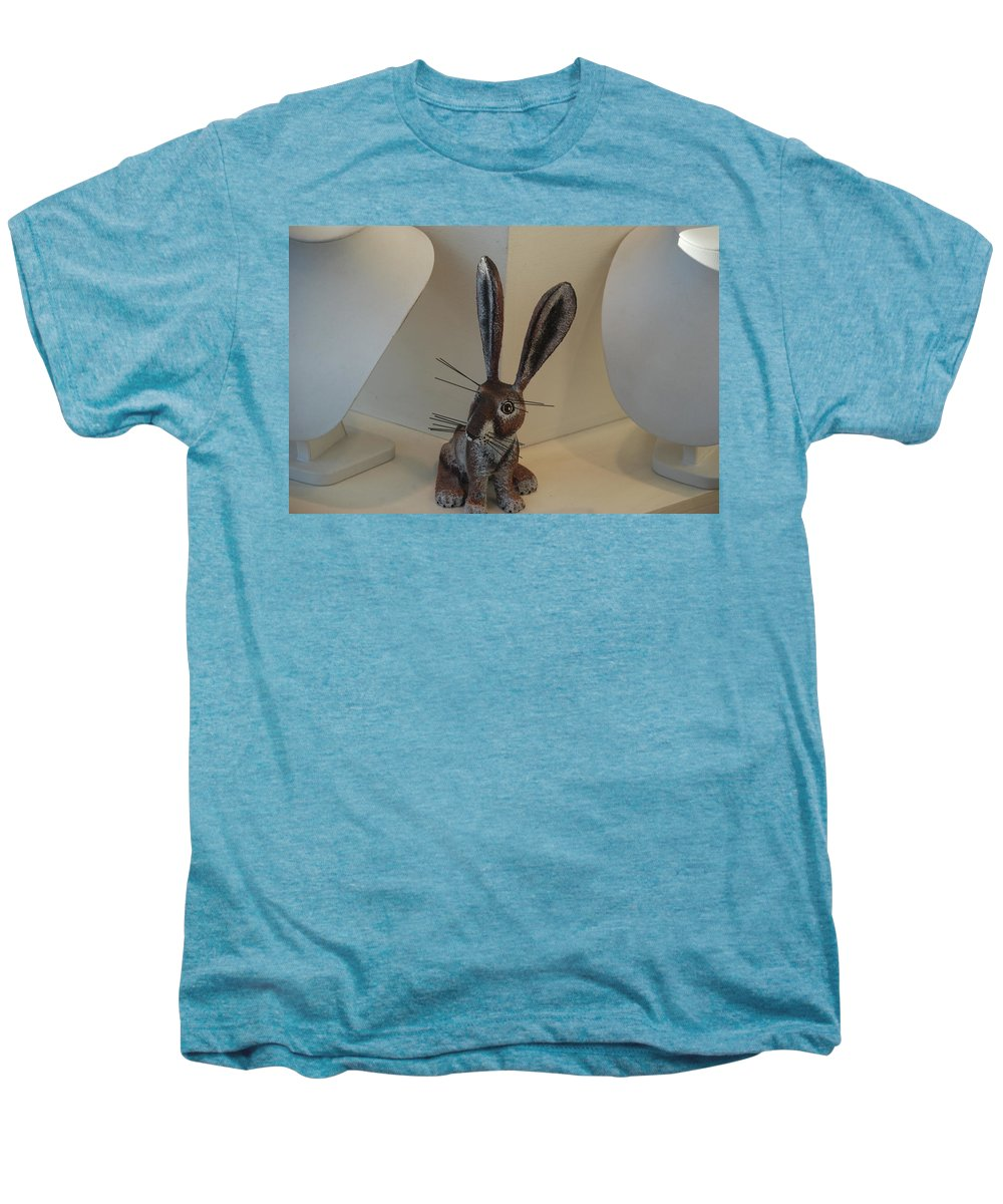 Rabbit Men's Premium T-Shirt featuring the photograph Boink Rabbit by Rob Hans