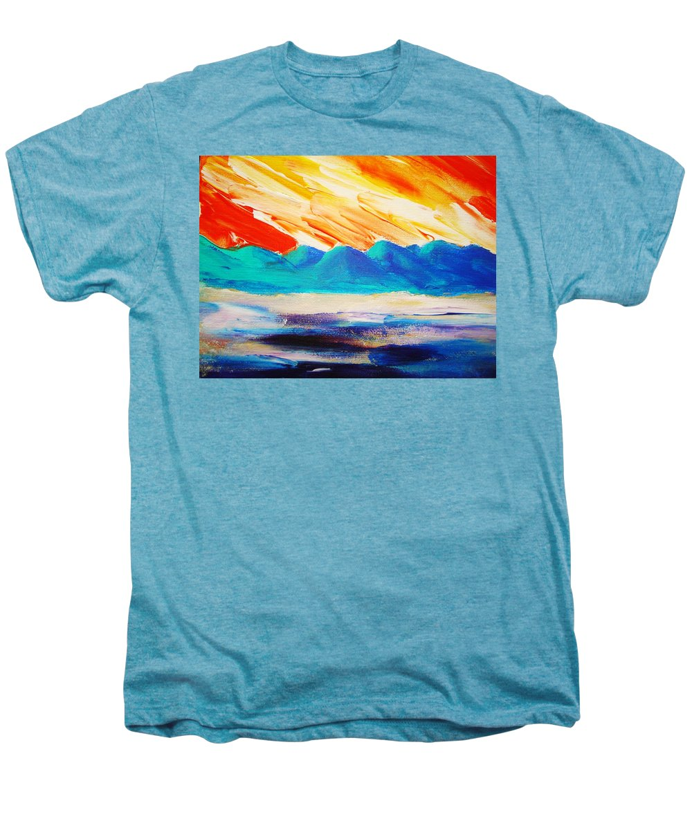 Bright Men's Premium T-Shirt featuring the painting Bold Day by Melinda Etzold