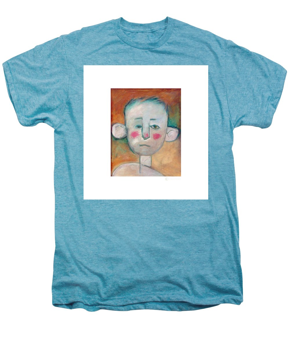 Boy Men's Premium T-Shirt featuring the painting Boy by Tim Nyberg