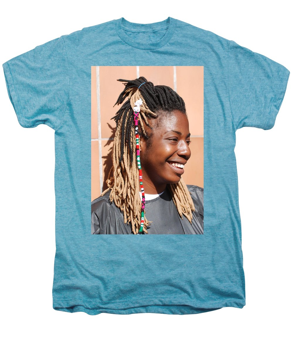 People Men's Premium T-Shirt featuring the photograph Braided Lady by Rob Hans