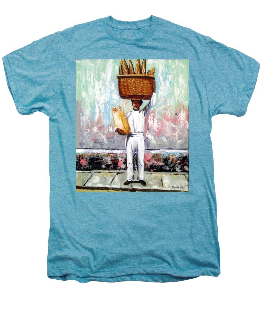 Bread Men's Premium T-Shirt featuring the painting Breadman by Jose Manuel Abraham