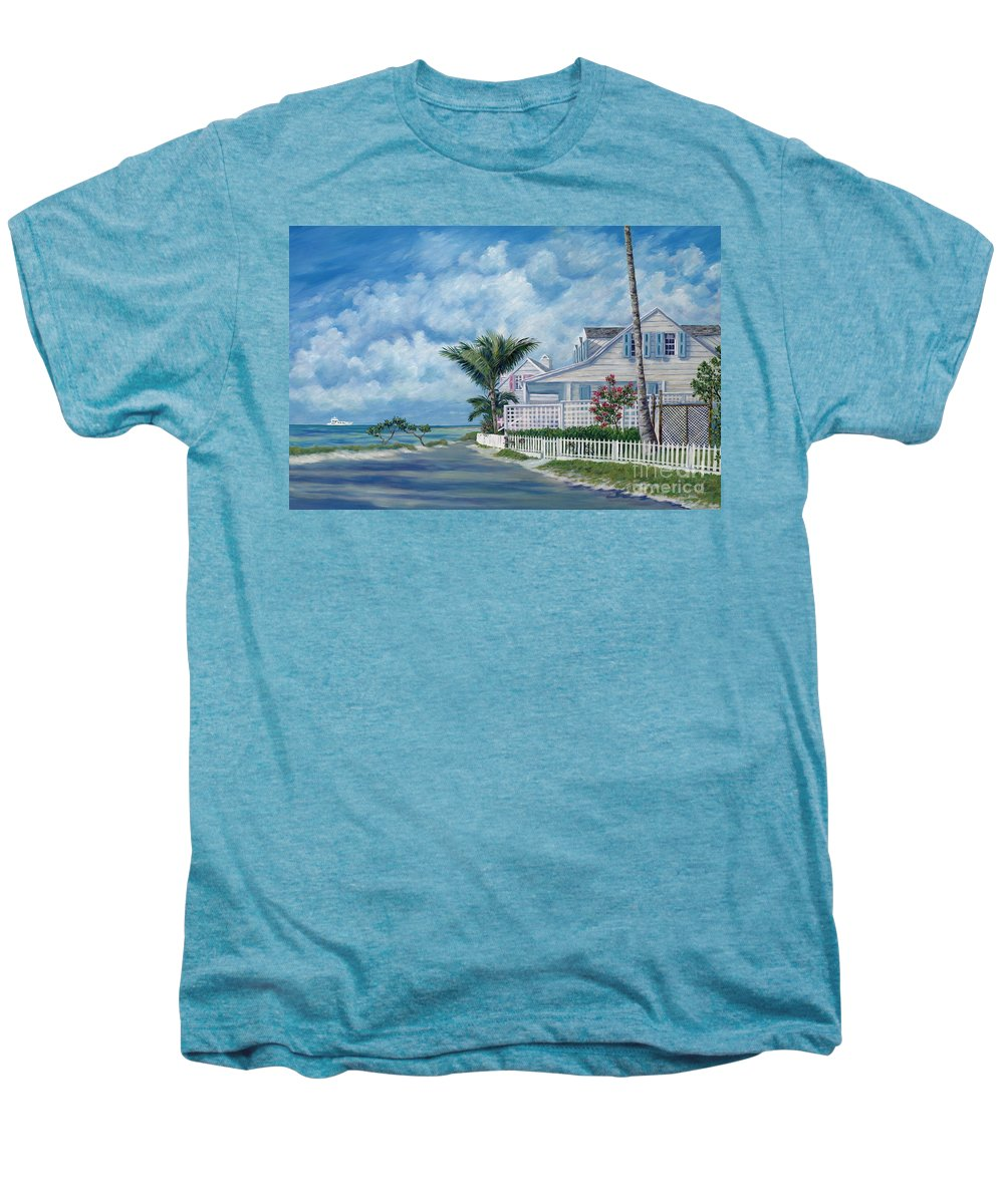 Harbor Island Men's Premium T-Shirt featuring the painting Briland Breeze by Danielle Perry