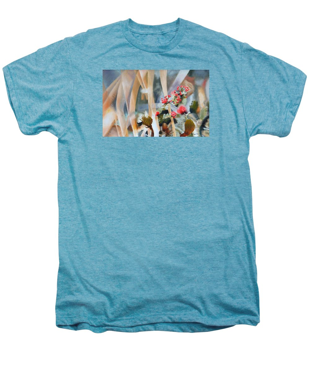 Nature Men's Premium T-Shirt featuring the painting British Soldiers by Dave Martsolf