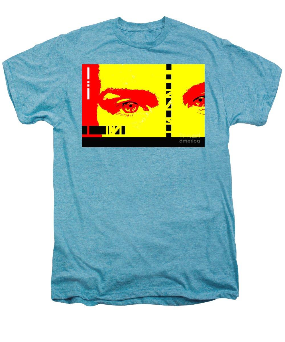 Eyes Men's Premium T-Shirt featuring the photograph Broken by Amanda Barcon