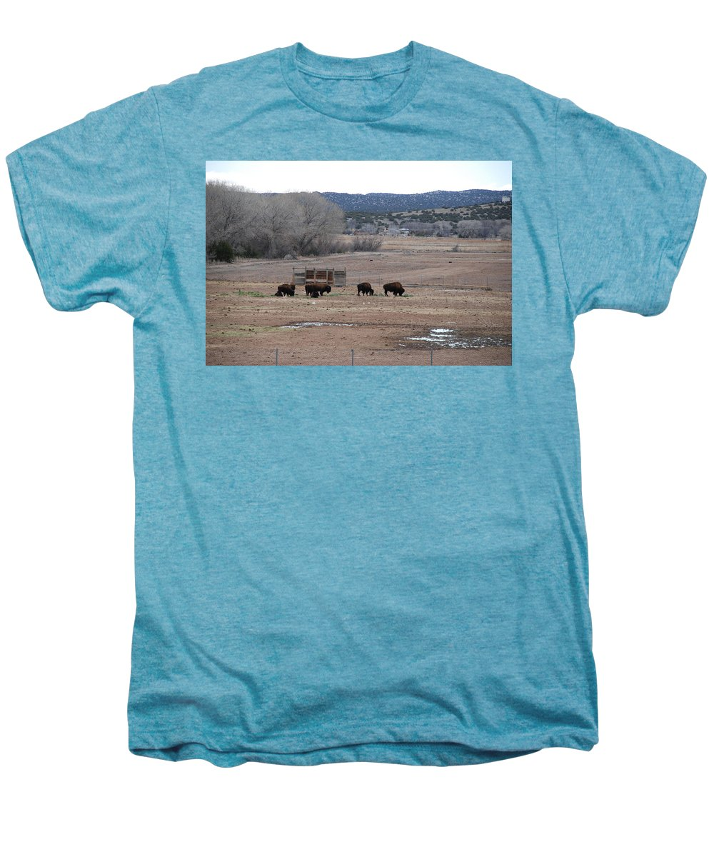 Buffalo Men's Premium T-Shirt featuring the photograph Buffalo New Mexico by Rob Hans
