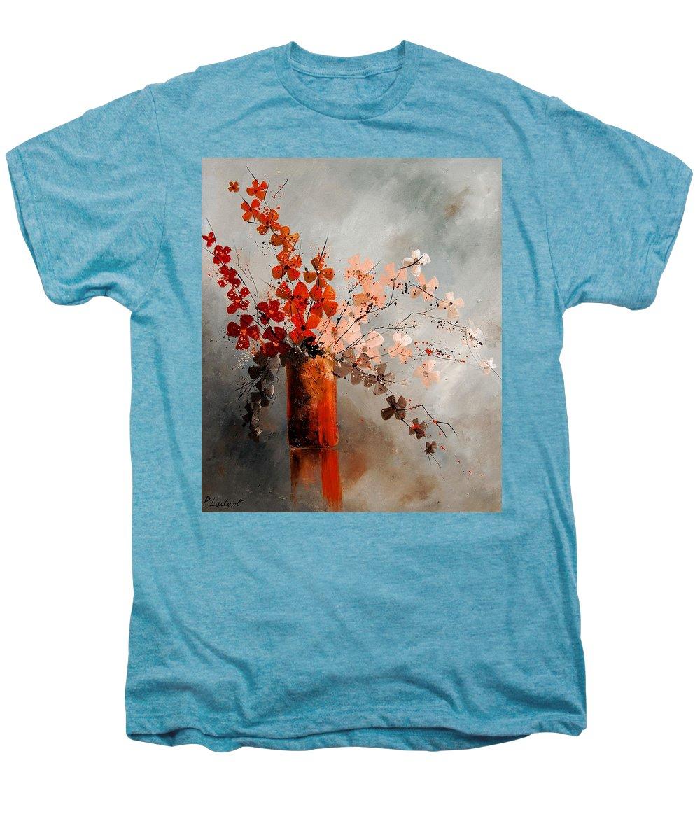 Flowers Men's Premium T-Shirt featuring the painting Bunch 670908 by Pol Ledent