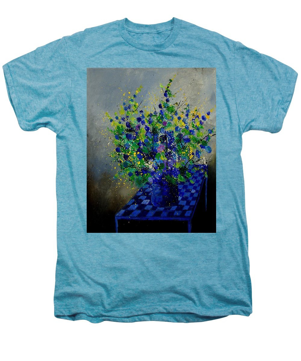 Flowers Men's Premium T-Shirt featuring the painting Bunch 9020 by Pol Ledent