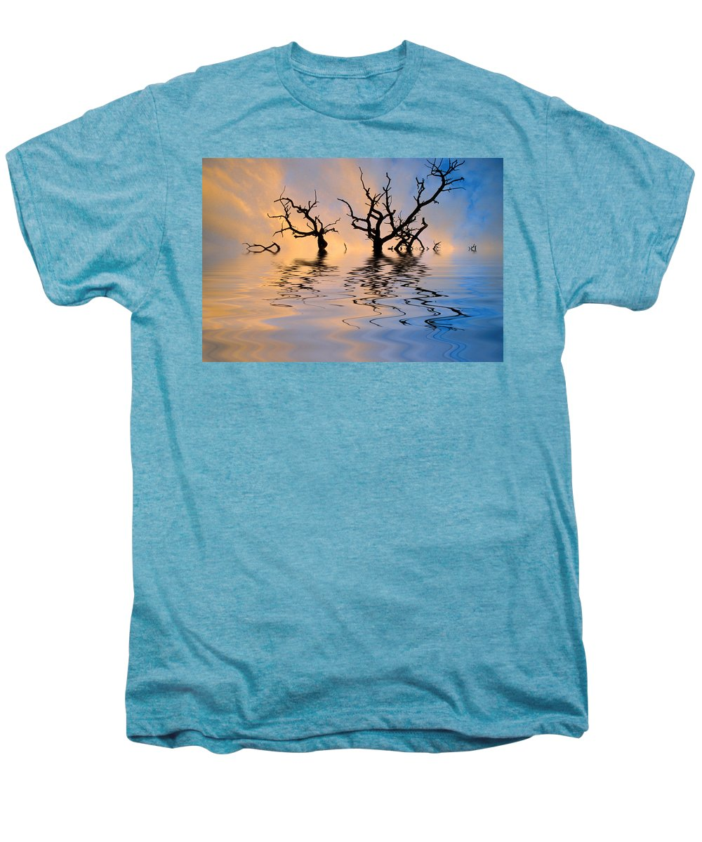Original Art Men's Premium T-Shirt featuring the photograph Slowly Sinking by Jerry McElroy
