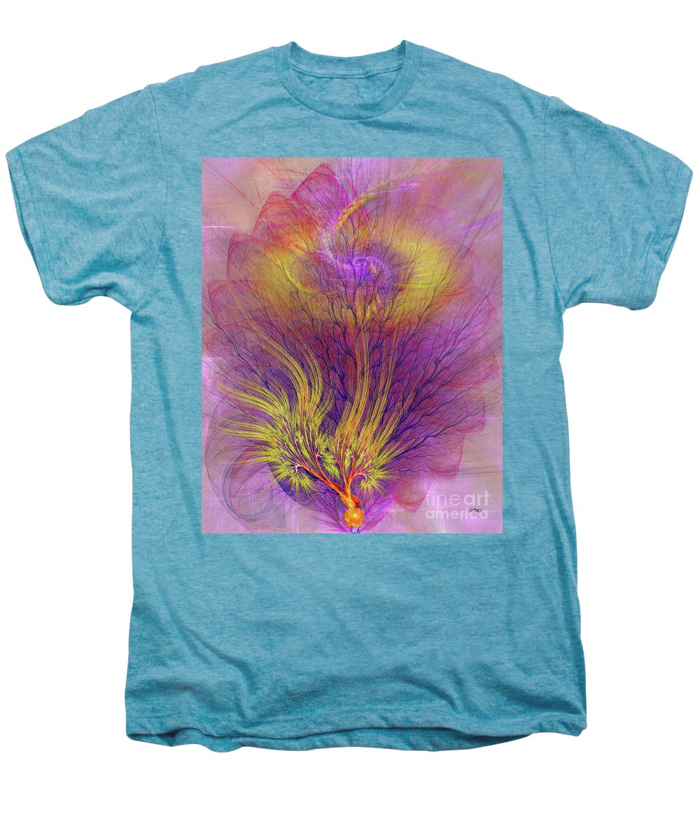 Burning Bush Men's Premium T-Shirt featuring the digital art Burning Bush by John Beck