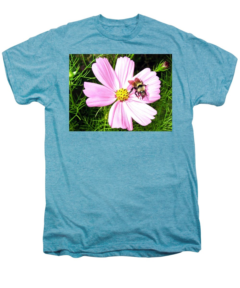 Bee Men's Premium T-Shirt featuring the photograph Busy Bee by Will Borden