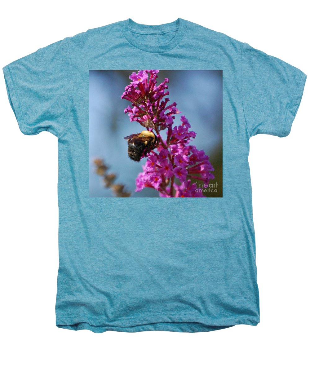 Bee Men's Premium T-Shirt featuring the photograph Buzzed by Debbi Granruth