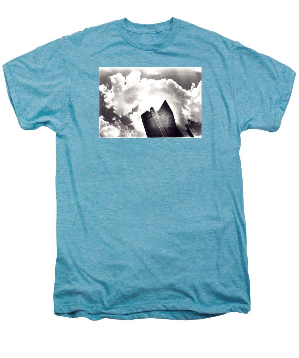 Cadillac Tailfin Men's Premium T-Shirt featuring the photograph Cadillac by Ted M Tubbs