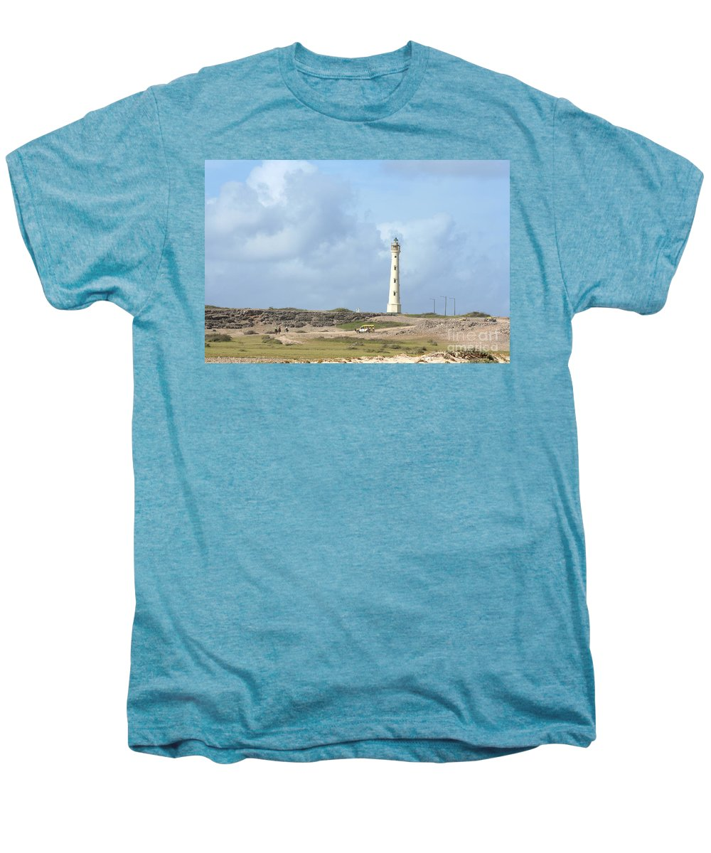 Aruba Men's Premium T-Shirt featuring the photograph California Lighthouse by Thomas Marchessault