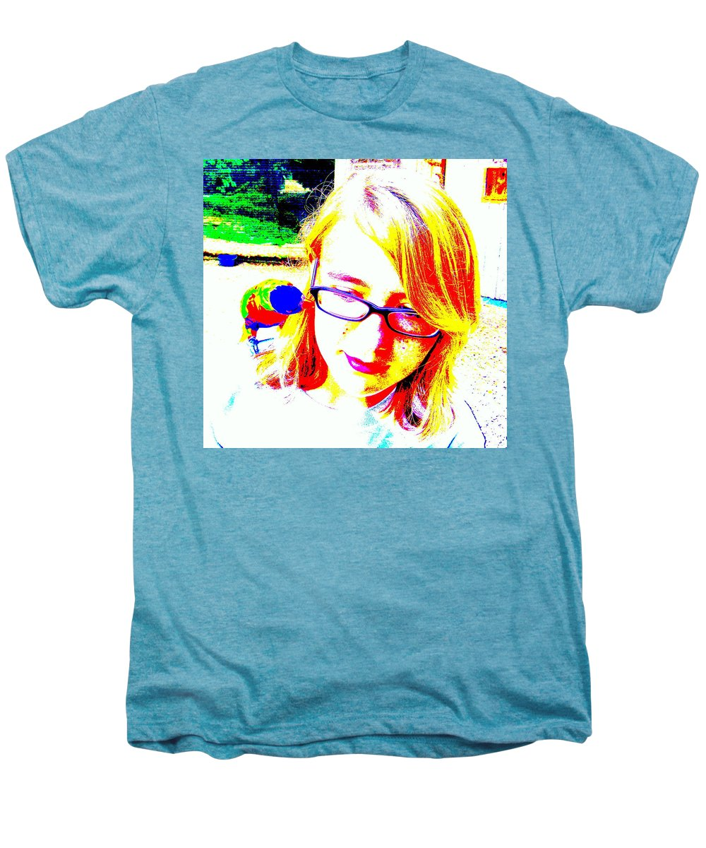 Bird Men's Premium T-Shirt featuring the photograph Can You Hear Me Now by Ed Smith