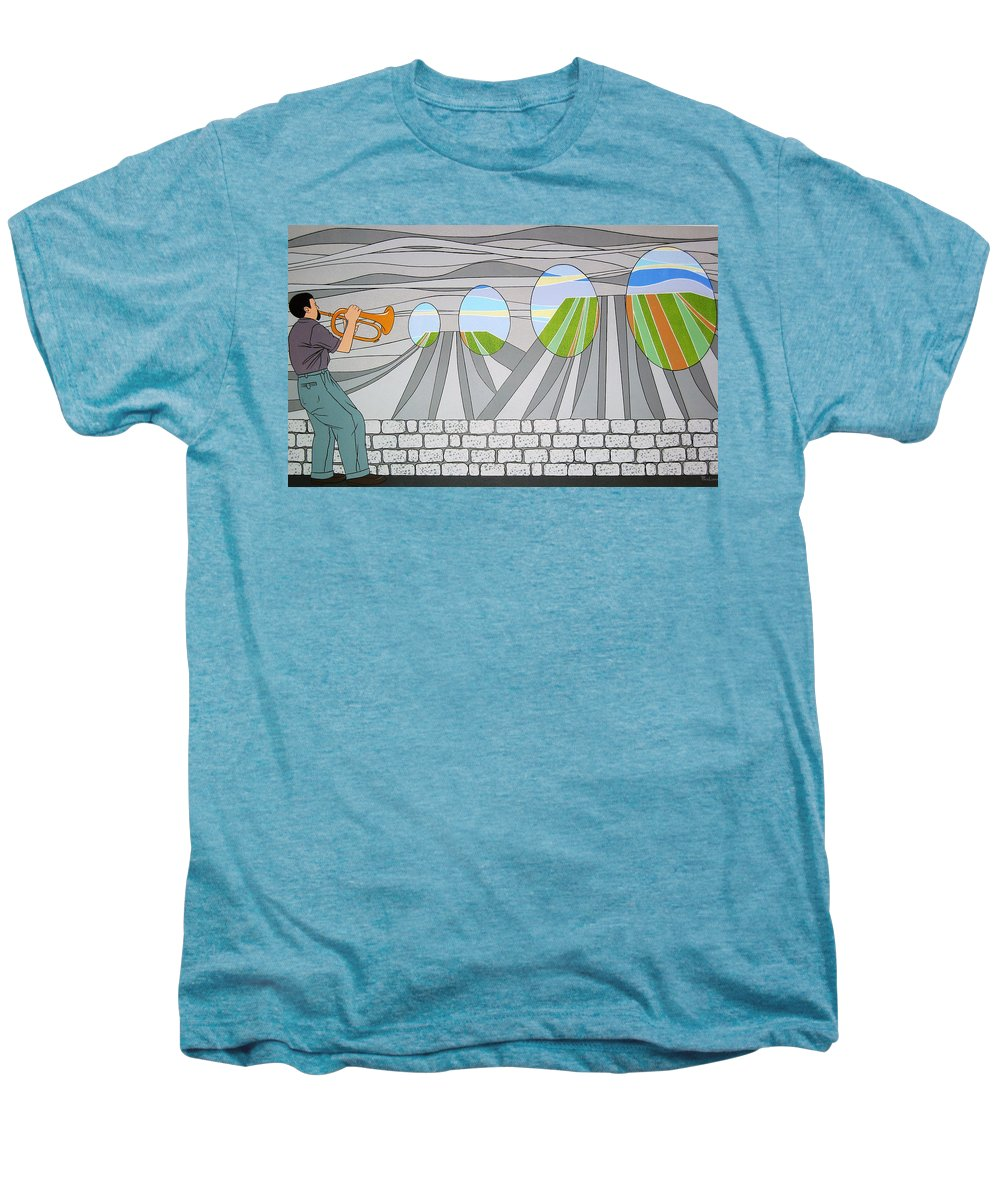 Trumpet Men's Premium T-Shirt featuring the painting Candy Lips by Patricia Van Lubeck