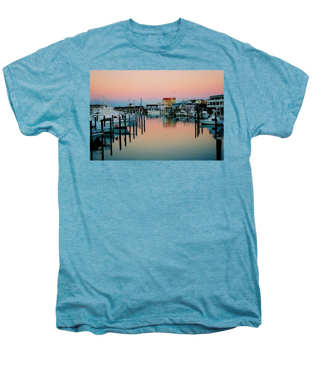Cape May Men's Premium T-Shirt featuring the photograph Cape May After Glow by Steve Karol