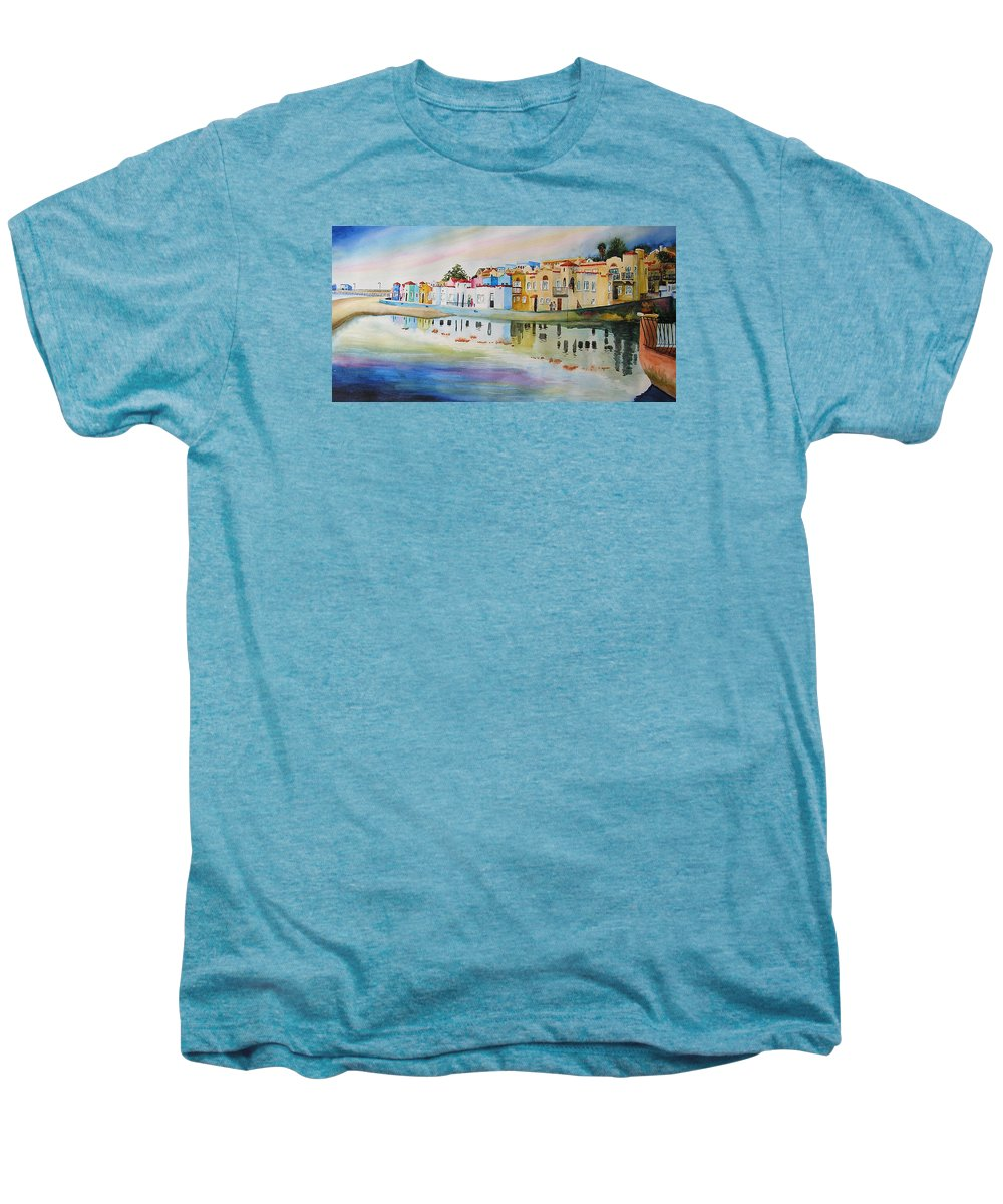 Capitola Men's Premium T-Shirt featuring the painting Capitola by Karen Stark