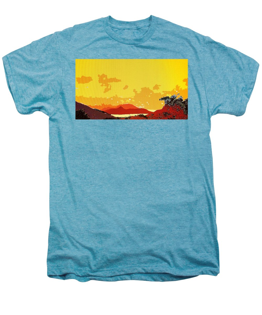 Caribbean Men's Premium T-Shirt featuring the photograph Caribbean Sky by Ian MacDonald