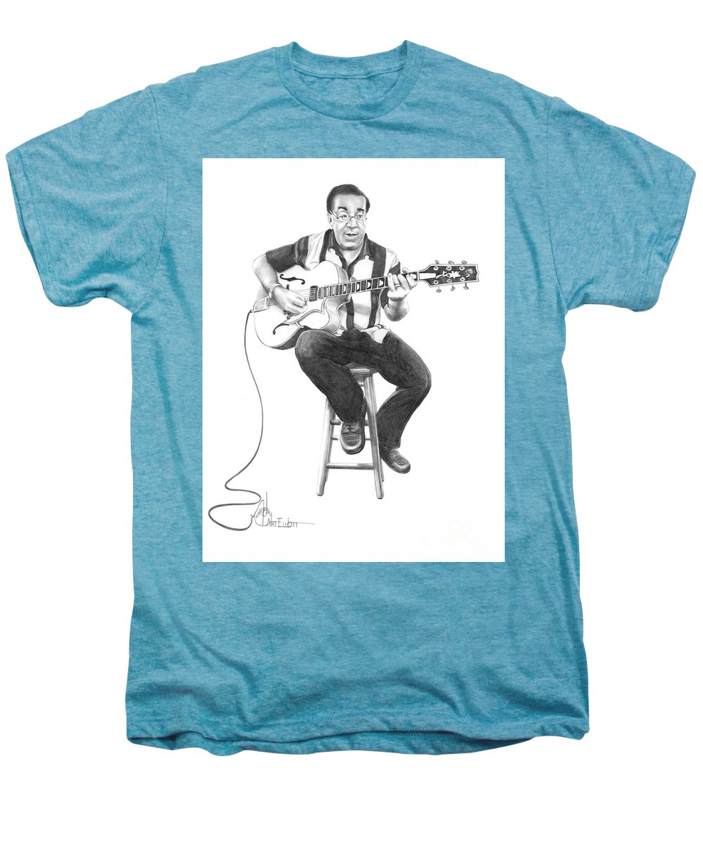 Drawing Men's Premium T-Shirt featuring the drawing Carmine D'amico by Murphy Elliott