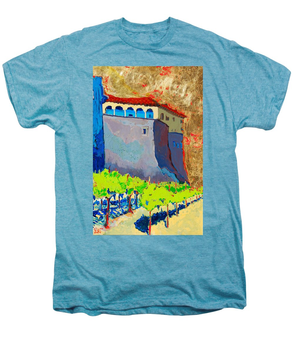 Castle Men's Premium T-Shirt featuring the painting Castello Di Villafranca by Kurt Hausmann