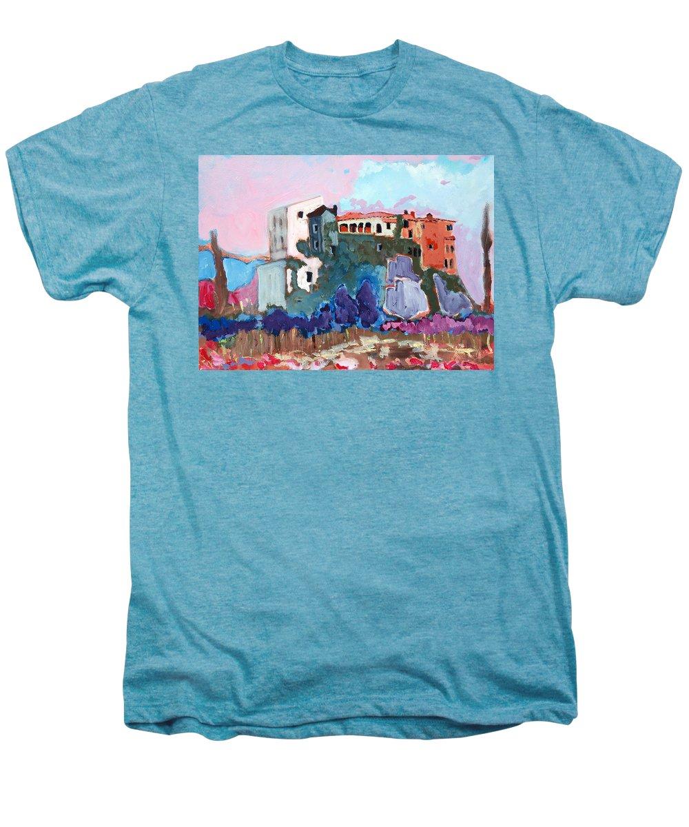 Castle Men's Premium T-Shirt featuring the painting Castello by Kurt Hausmann