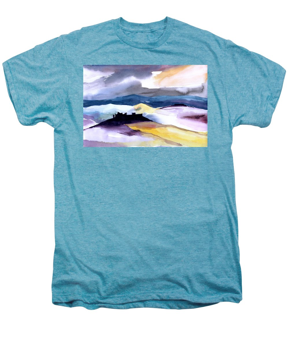 Water Men's Premium T-Shirt featuring the painting Castle by Anil Nene