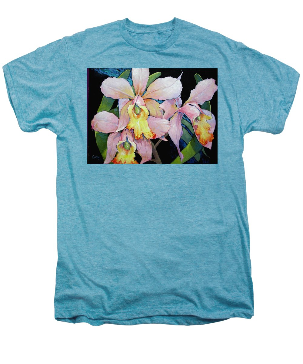 Catalya Men's Premium T-Shirt featuring the painting Catalya Arrangement by Jerrold Carton