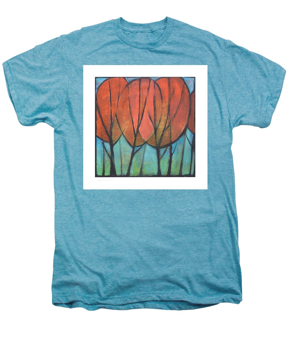 Trees Men's Premium T-Shirt featuring the painting Cathedral by Tim Nyberg