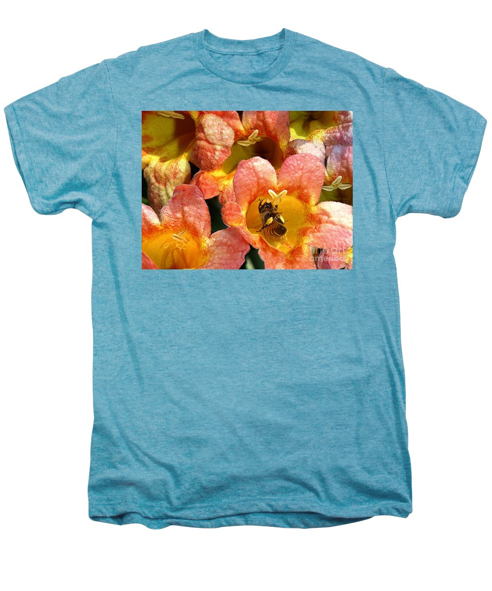 Nature Men's Premium T-Shirt featuring the photograph Caught Up In The Work by Lucyna A M Green