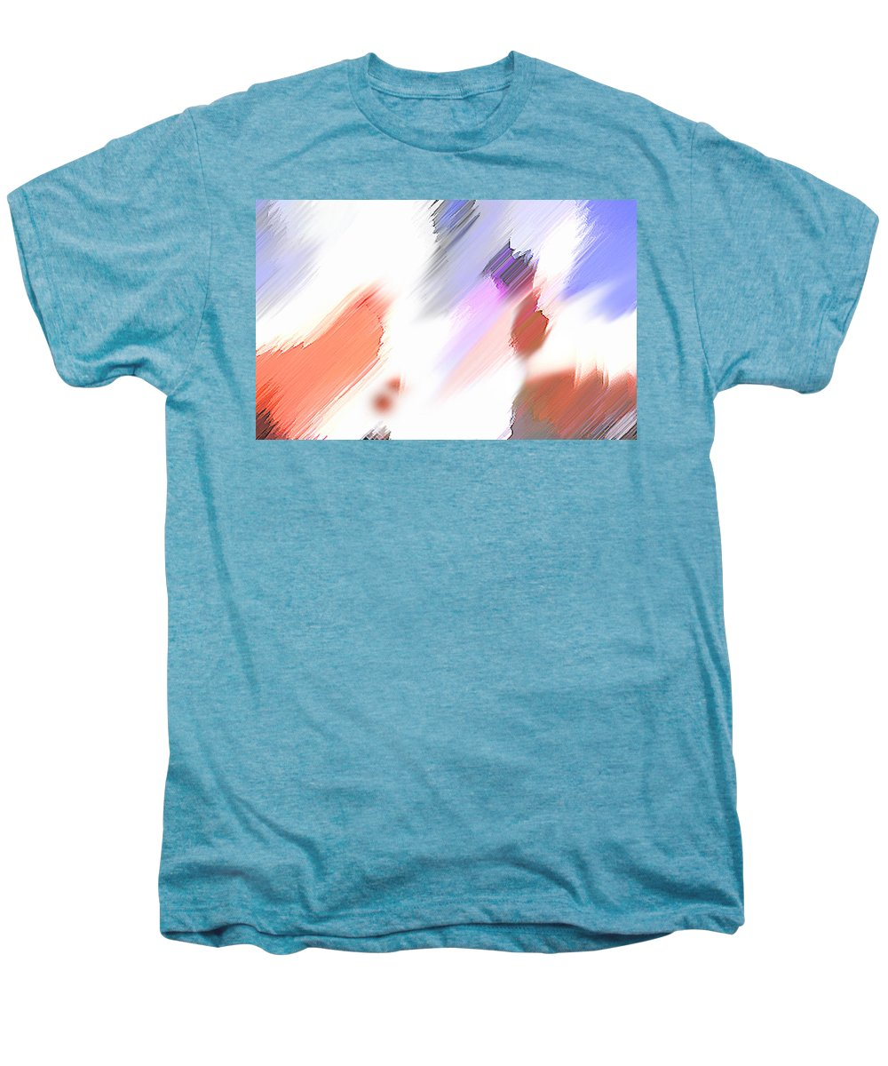 Digital Art Water Color Watercolor Light Color Men's Premium T-Shirt featuring the painting Celebration by Anil Nene