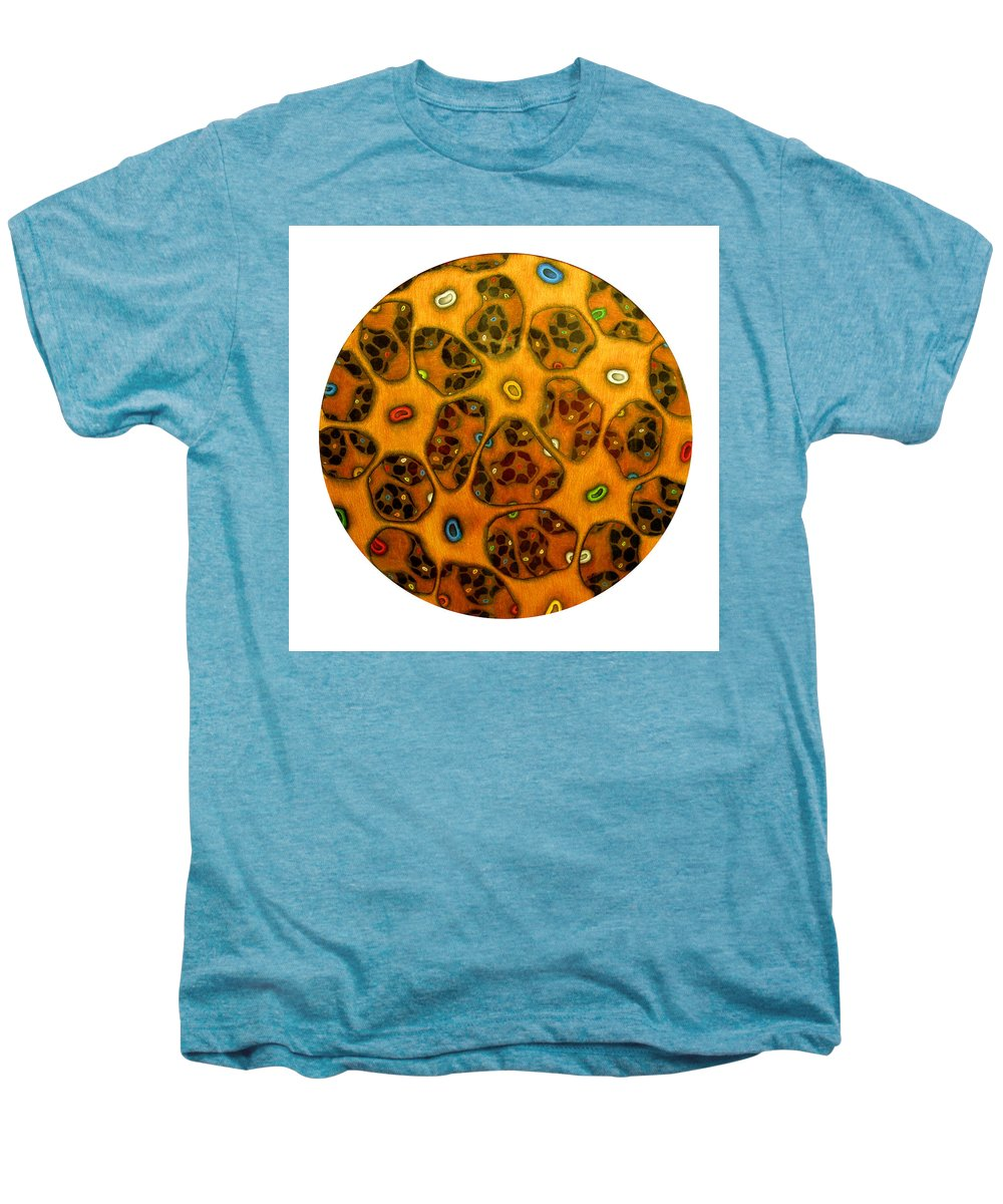 Cells Men's Premium T-Shirt featuring the drawing Cell Network by Nancy Mueller