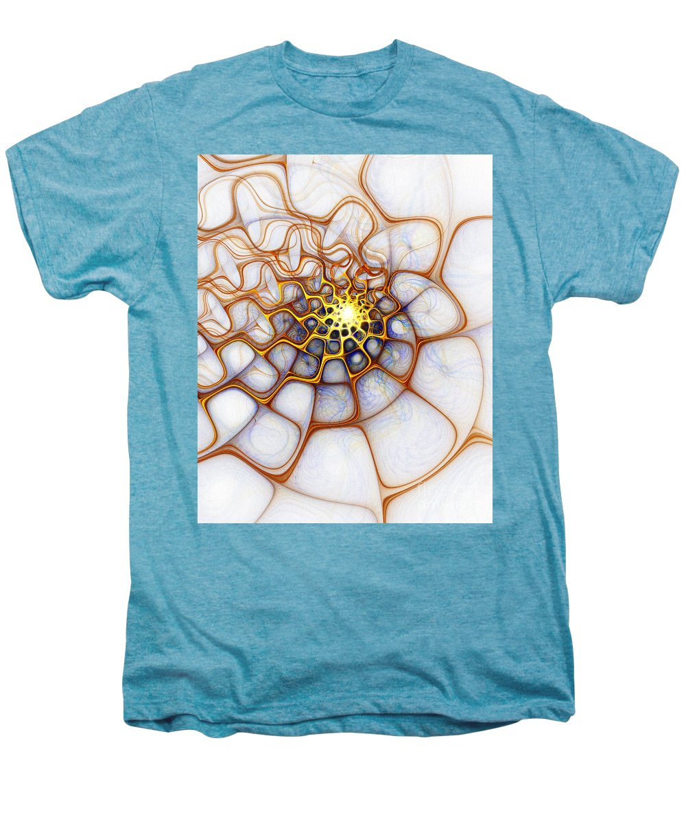 Digital Art Men's Premium T-Shirt featuring the digital art Charlotte's Web by Amanda Moore