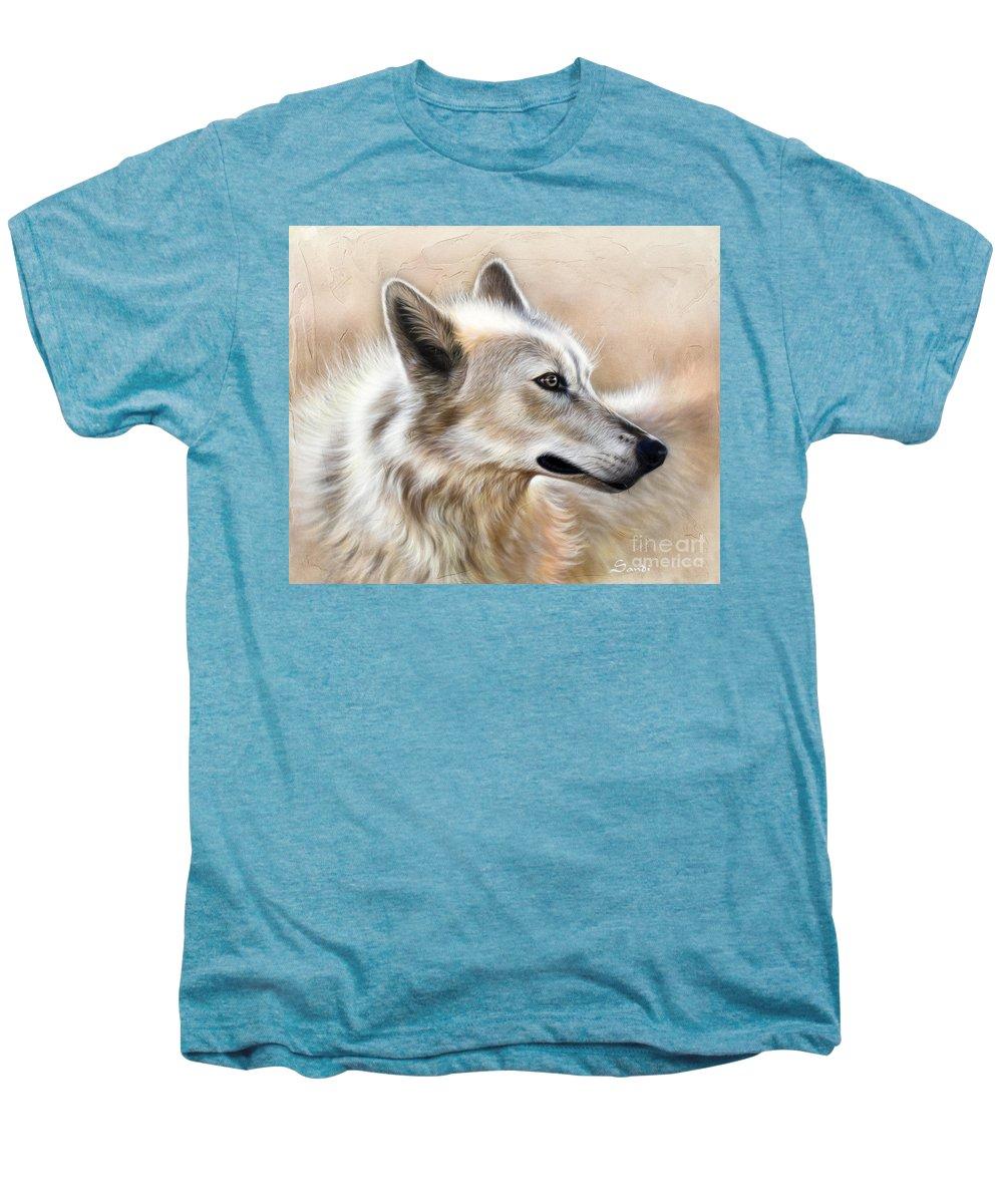 Acrylic Men's Premium T-Shirt featuring the painting Cheyenne by Sandi Baker