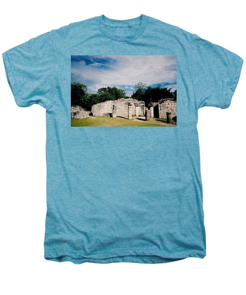 Chitchen Itza Men's Premium T-Shirt featuring the photograph Chichen Itza 2 by Anita Burgermeister