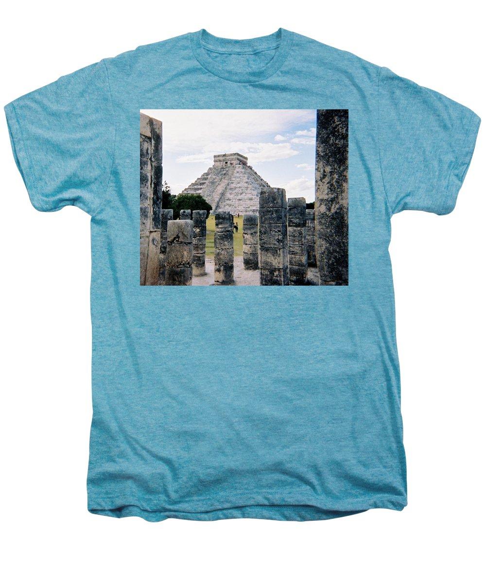 Chitchen Itza Men's Premium T-Shirt featuring the photograph Chichen Itza 3 by Anita Burgermeister