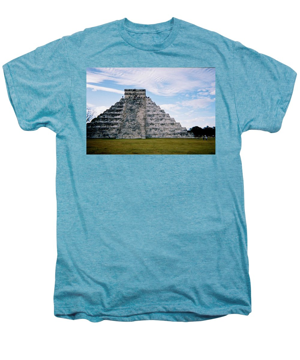 Chitchen Itza Men's Premium T-Shirt featuring the photograph Chichen Itza 4 by Anita Burgermeister