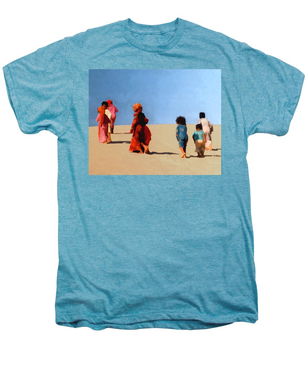 Children Men's Premium T-Shirt featuring the photograph Children Of The Sinai by Kurt Van Wagner