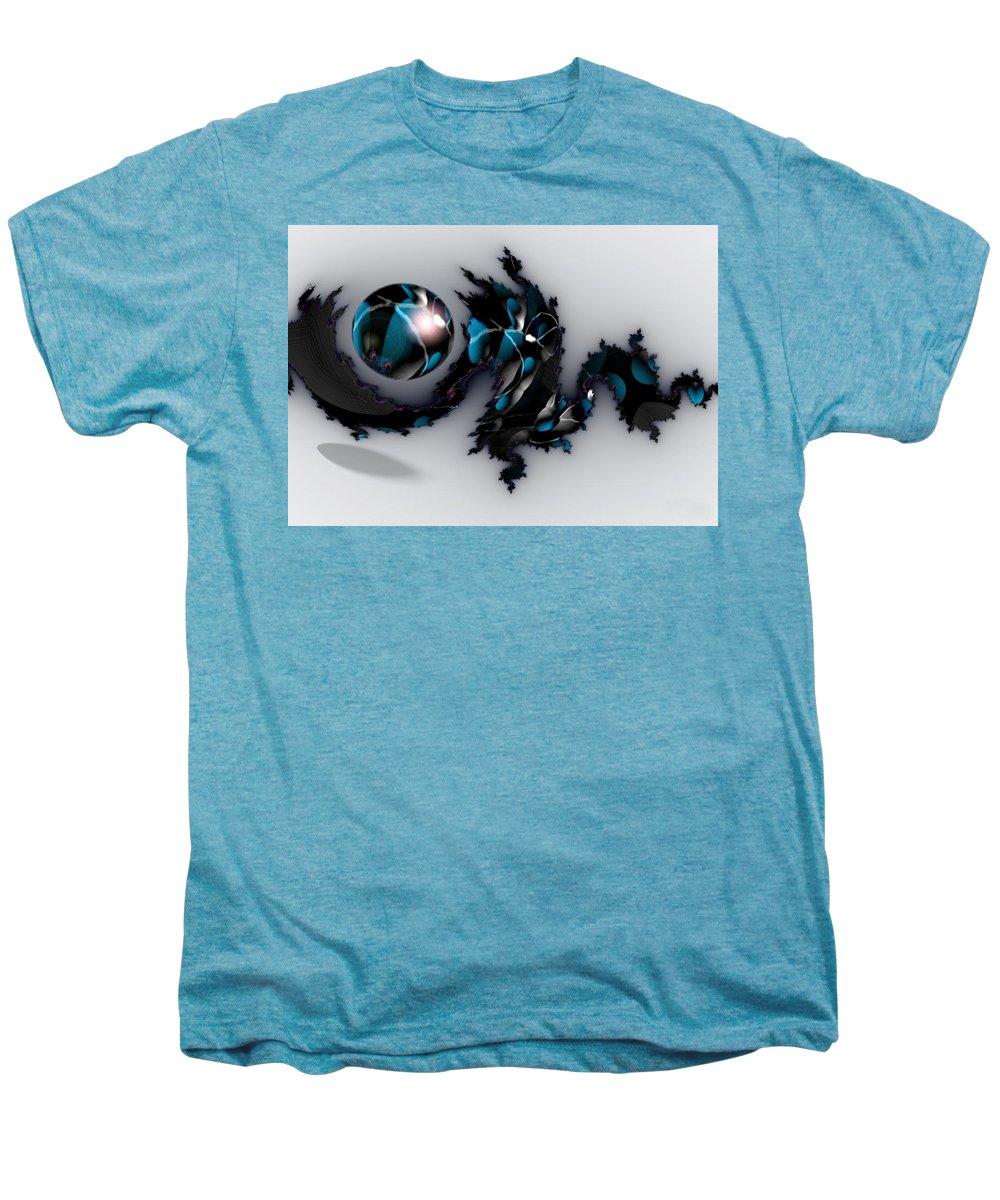 China Dragon Rythm Float Dance Men's Premium T-Shirt featuring the digital art China Dragon by Veronica Jackson