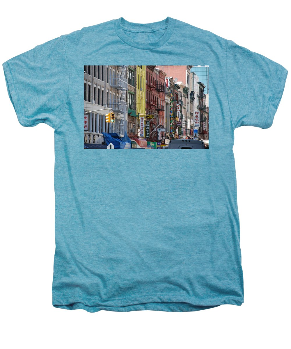 Architecture Men's Premium T-Shirt featuring the photograph Chinatown Walk Ups by Rob Hans