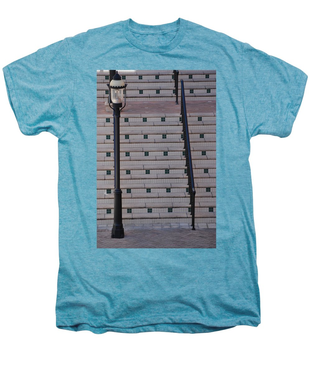 Architecture Men's Premium T-Shirt featuring the photograph City Stairs by Rob Hans
