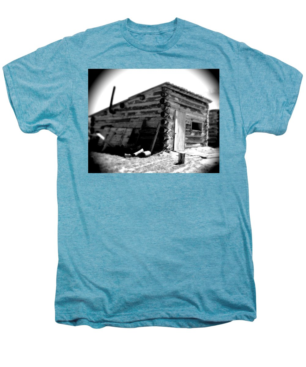 Army Men's Premium T-Shirt featuring the photograph Civil War Cabin 1 Army Heritage Education Center by Jean Macaluso