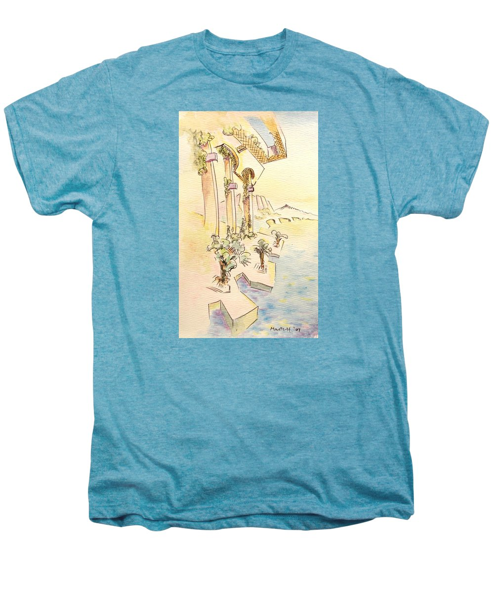 Italian Men's Premium T-Shirt featuring the painting Classic Summer Morning by Dave Martsolf
