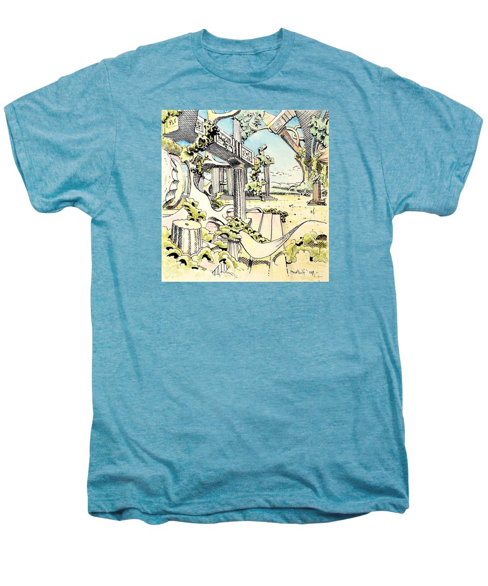 Greek Men's Premium T-Shirt featuring the painting Classical Visitation by Dave Martsolf