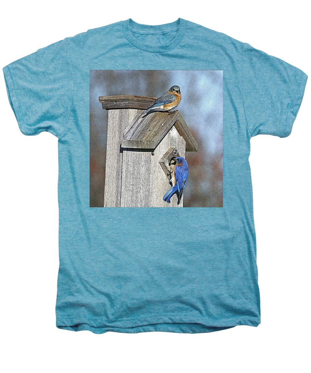 Nature Men's Premium T-Shirt featuring the photograph Cleaning House by Robert Pearson