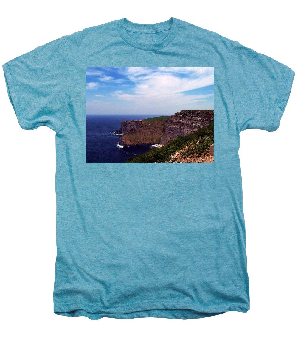 Irish Men's Premium T-Shirt featuring the photograph Cliffs Of Moher Aill Na Searrach Ireland by Teresa Mucha