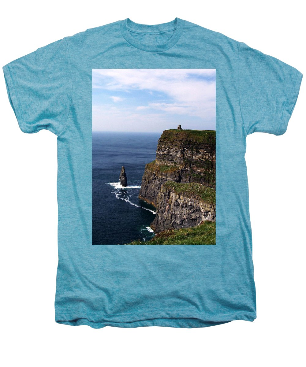Irish Men's Premium T-Shirt featuring the photograph Cliffs Of Moher County Clare Ireland by Teresa Mucha