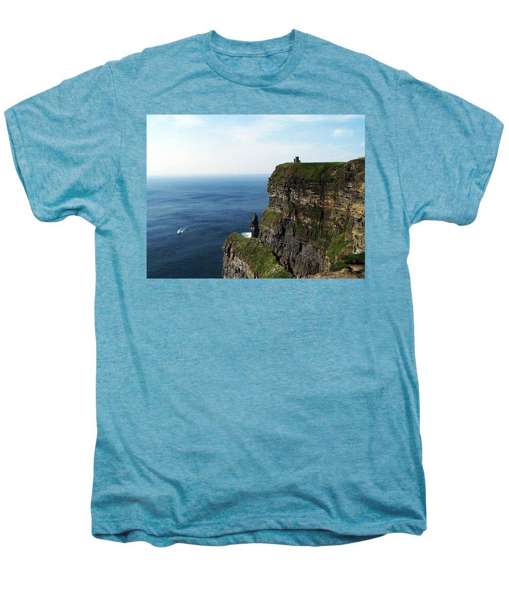 Irish Men's Premium T-Shirt featuring the photograph Cliffs Of Moher Ireland by Teresa Mucha